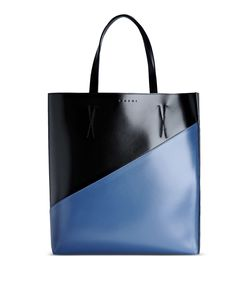 ShopBazaar Marni Color-Block Leather Tote MAIN