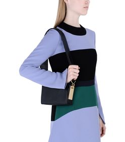 ShopBazaar Marni Box Leather Shoulder Bag FRONT