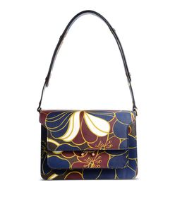 ShopBazaar Marni Medium Trunk Printed Leather Bag MAIN