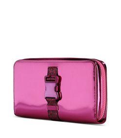 ShopBazaar Christopher Kane Metallic Pink Clutch FRONT