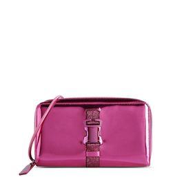 ShopBazaar Christopher Kane Metallic Pink Clutch MAIN