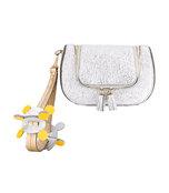 silver mini 'circulus vere' clutch bag