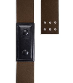 ShopBazaar Marni Leather & Flannel Belt FRONT