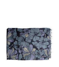 ShopBazaar Marni Oblong Floral Printed Scarf MAIN