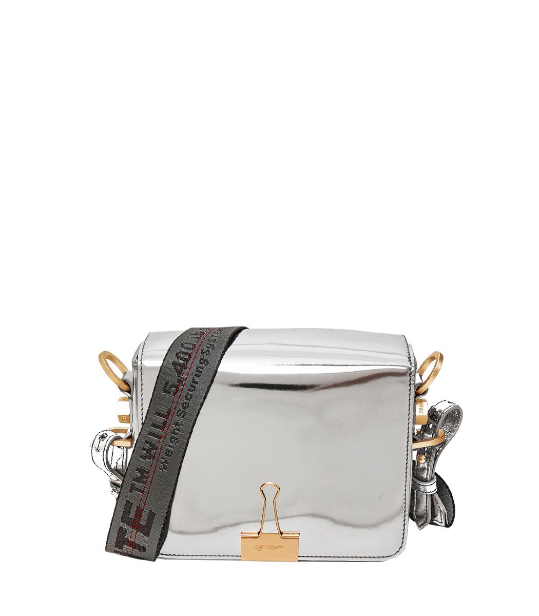 silver mini mirror bag