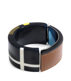 ShopBazaar Marni Resin & Leather Bracelet MAIN