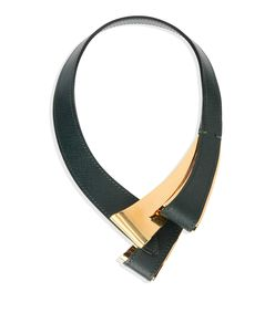 ShopBazaar Marni Asymmetrical Leather Necklace MAIN