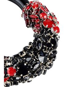 ShopBazaar Marni Black & Red Embellished Choker FRONT