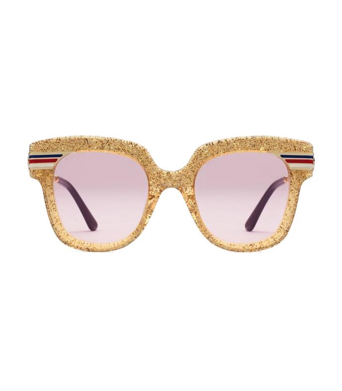 glitter acetate sunglasses
