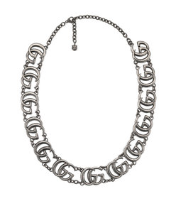 double g necklace in silver