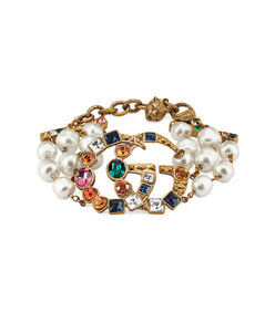 crystal double g bracelet