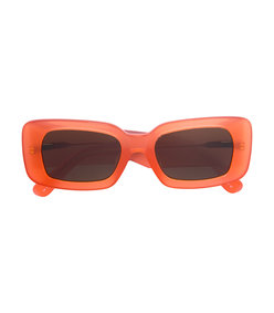 orange dries van noten x rectangular sunglasses