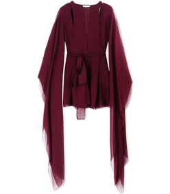 ShopBazaar Emilio Pucci Burgundy Pleated Romper MAIN