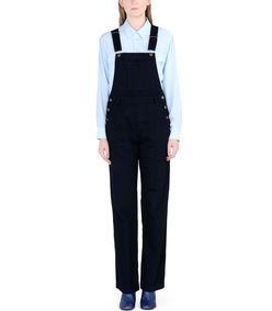 ShopBazaar A.p.c. Blue Overalls FRONT