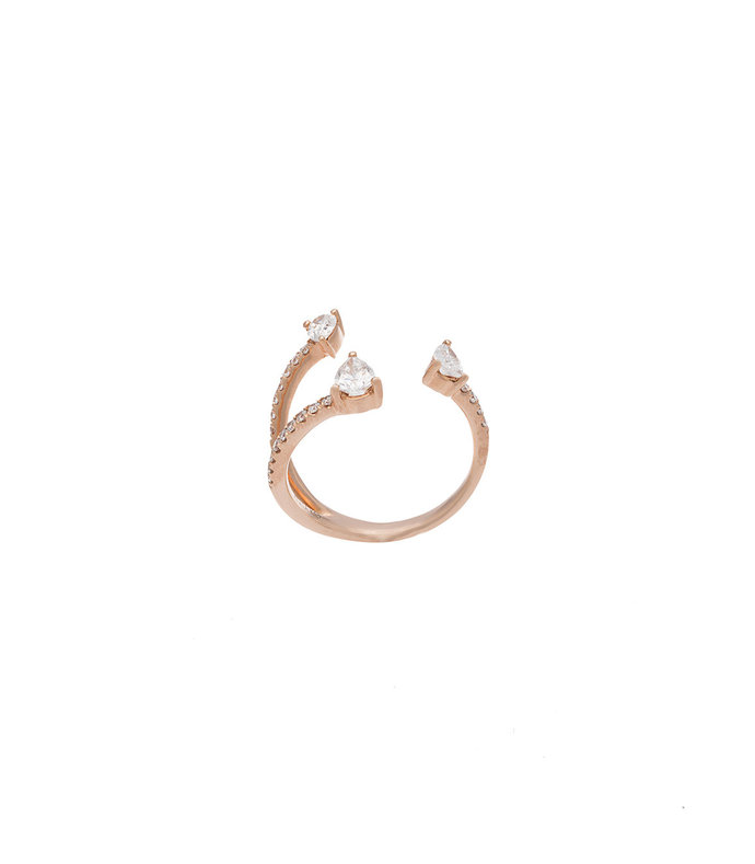 Gold Three Claw Ring