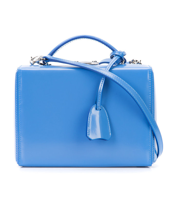 blue 'cornflower grace' box bag