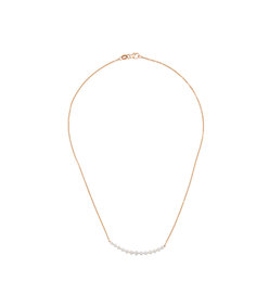 gold diamond band necklace