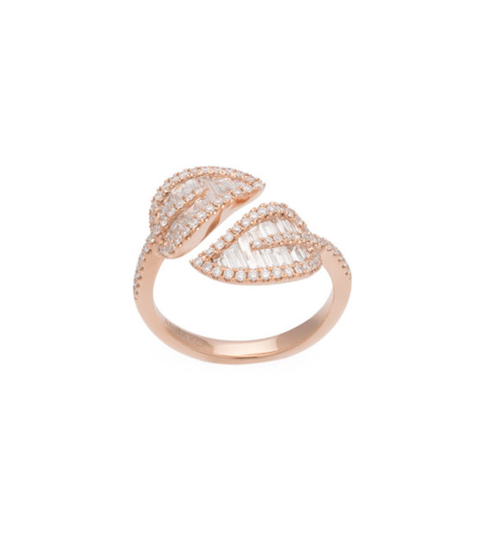Rose Gold Small Leaf Ring