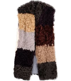 ShopBazaar Marni Multi-Colored Patchwork Shearling Vest MAIN