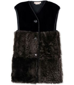 ShopBazaar Marni Long Shearling Vest MAIN
