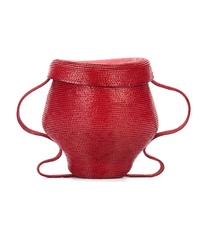 red 'pot' mini tote