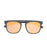 gold square-frame sunglasses