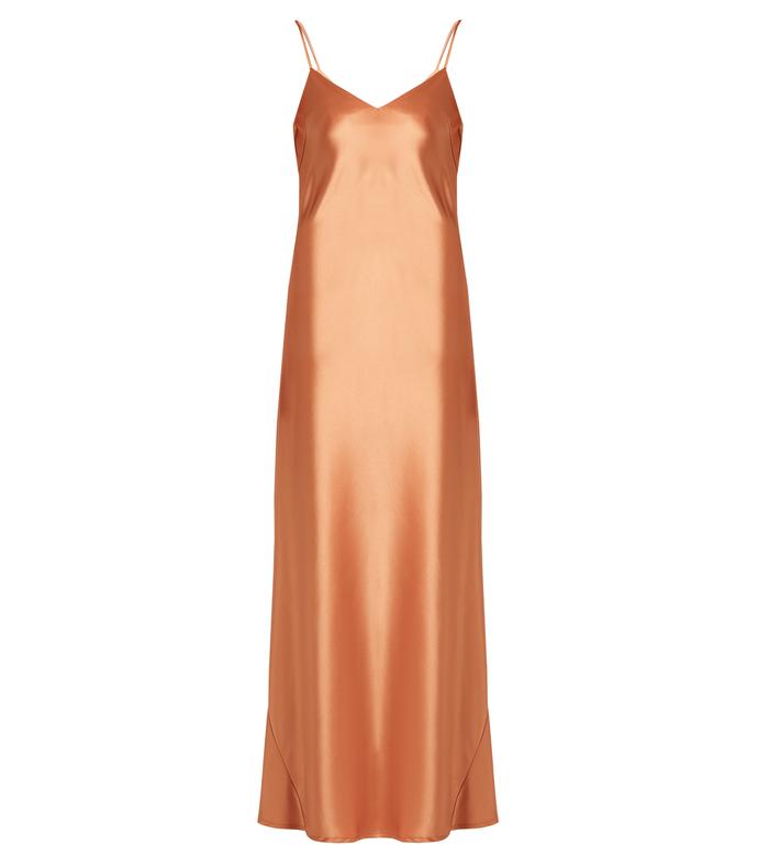 bronze 'alcazar' satin gown
