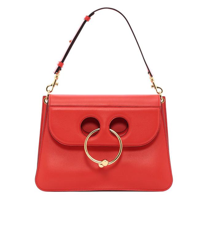 red scarlet medium 'pierce' bag