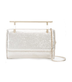 gold mini 'fabricca' metallic bag