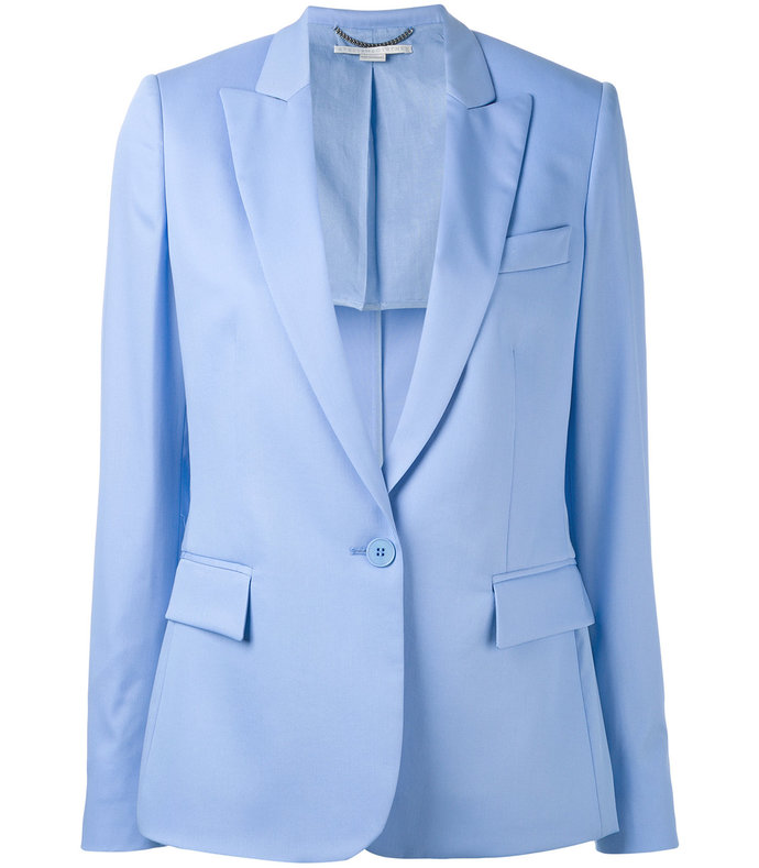 blue single breasted blazer