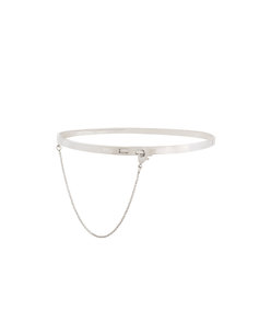 silver 'safety chain' choker