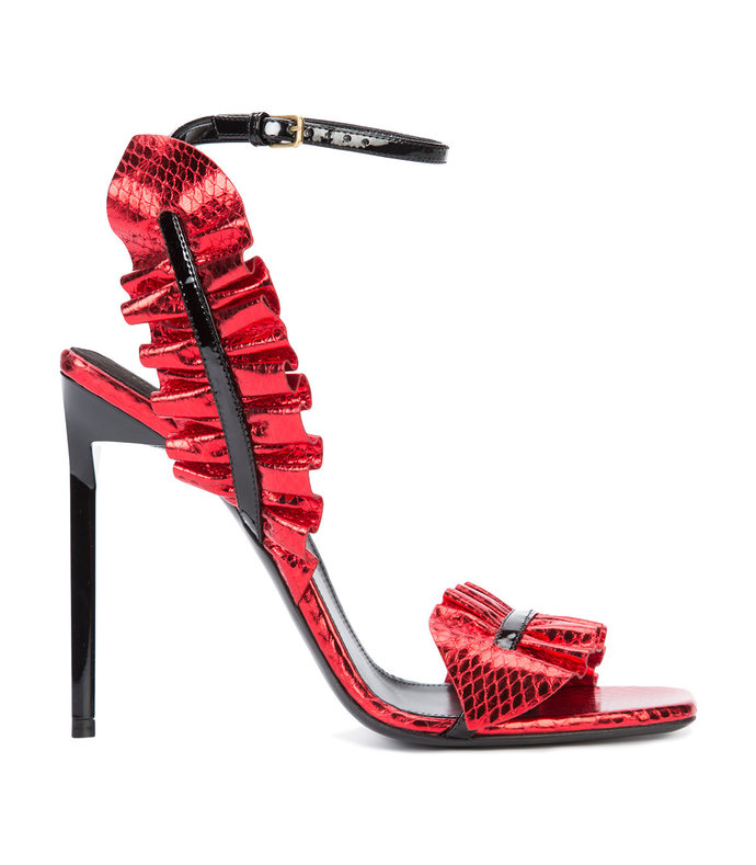red 'edie 110' leaf sandal