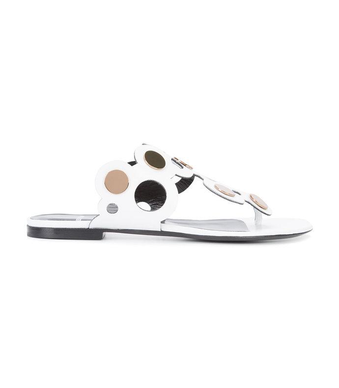white 'penny lace' sandal