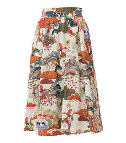 floral print incapace skirt