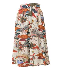 floral print incapace skirt