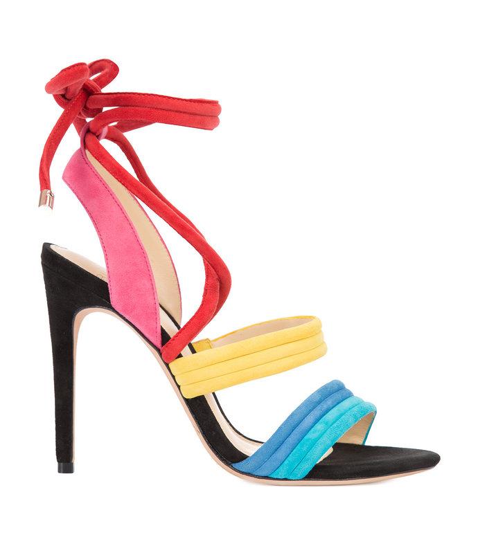 multicolor lace-up sandal