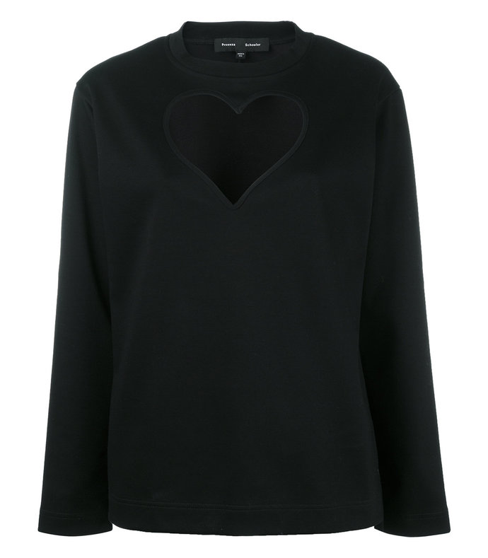black heart cut-out knitted top