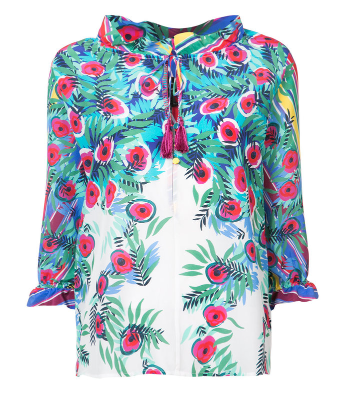 multicolor floral print ali top