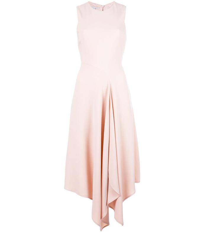 pink mid-length dress