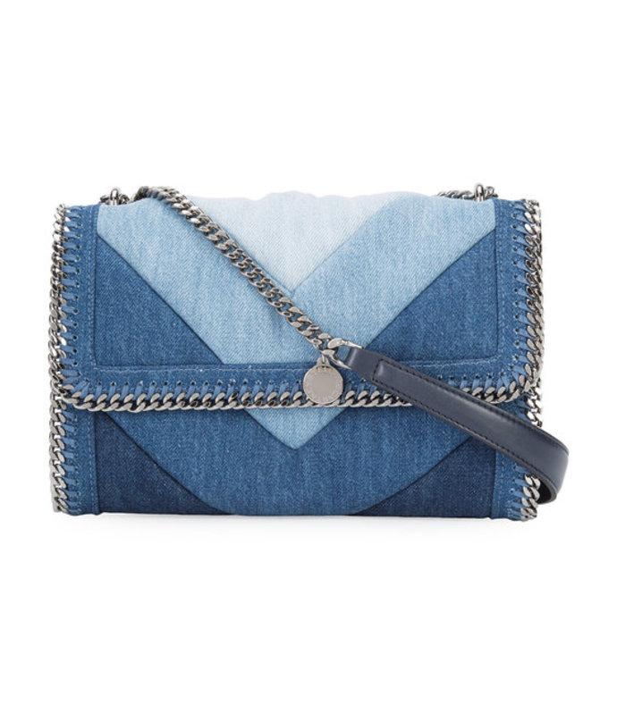 denim chain shoulder bag