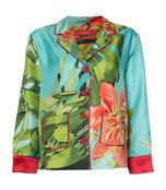 tropical print silk shirt
