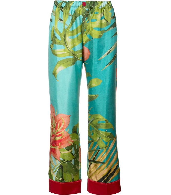 tropical print trouser