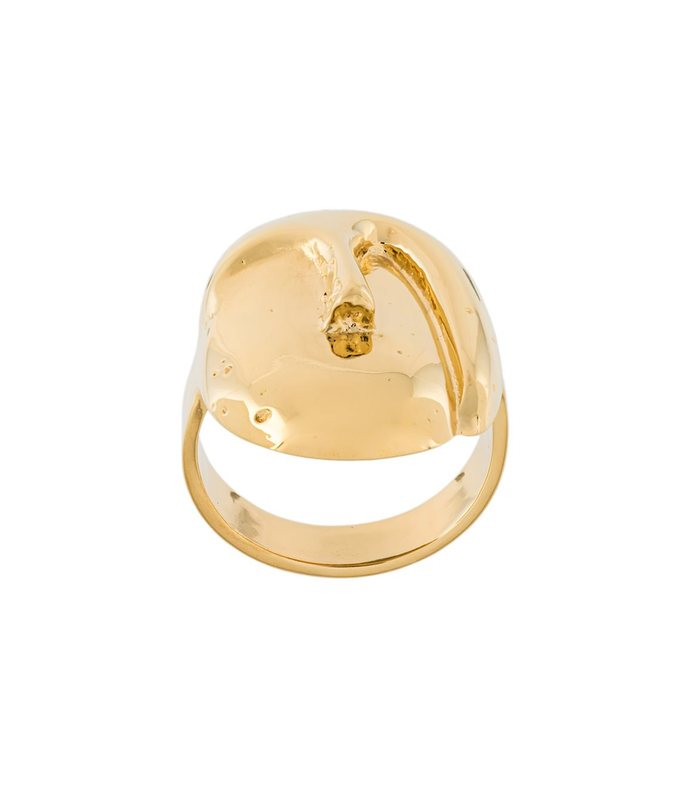 Yellow Gold 'Melina' Oval Mask Ring