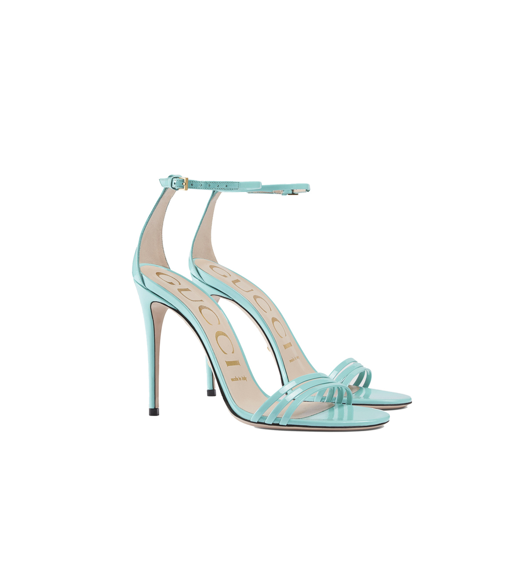 GUCCI Turquoise Patent Leather Sandal