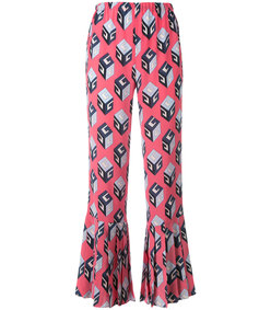 pink 'gg' wallpaper print silk pant