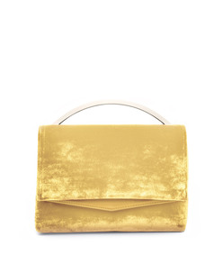yellow orange 'boyd vanity' clutch