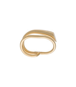 gold double ring