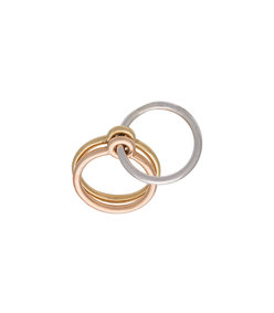 silver & gold double ring