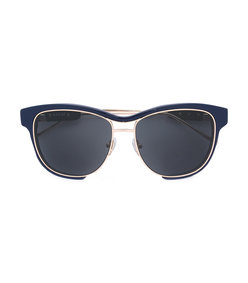 blue linda farrow x square frame sunglasses
