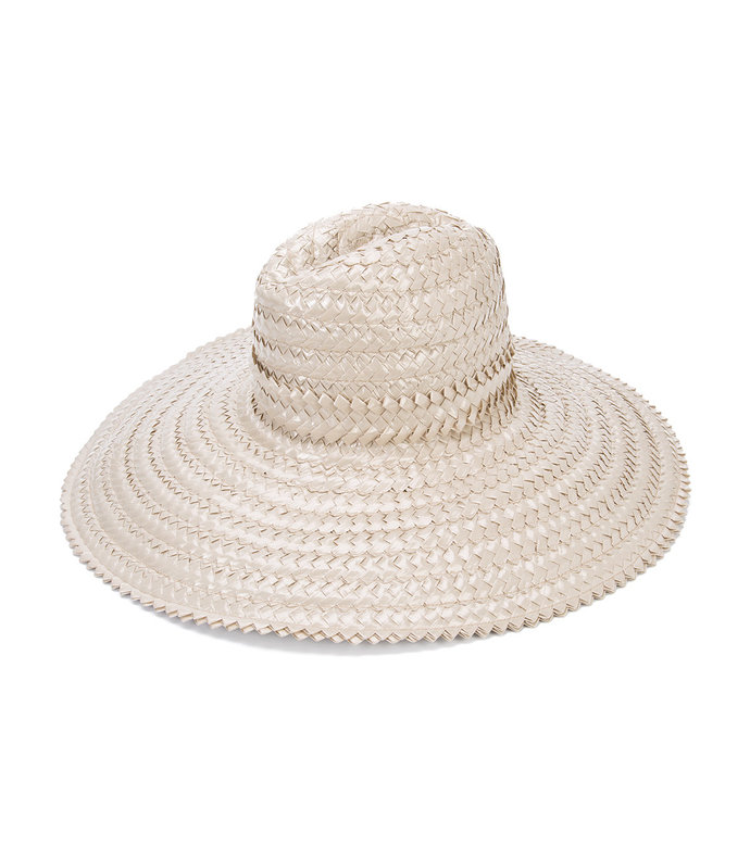nude neutrals 'interlaced' sun hat